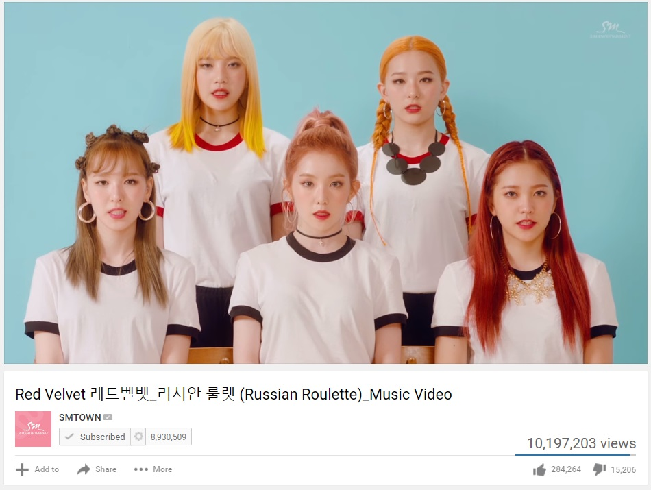 Russian Roulette Red Velvet 10 Million